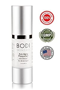 MATRIXYL 3000 - Best Anti-Aging Moisturiser with Matrixyl 3000 - Hypo-Allergenic Deep Wrinkle Cream, Fast Absorption, Neutral Scent and Fast Acting***MADE IN USA*** GMP & FDA Approved Manufacturing Facility- Works Best With Bodishape Phytoceramide 350mg and Bodi Skincare's Potent Hyaluronic Acid Serum ***100% UNCONDITIONAL GUARANTEE***