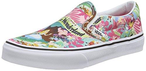 Vans Classic Slip-On Sneaker, Unisex Bambini, Multicolore (Disney/Wonderland/Pink), 31