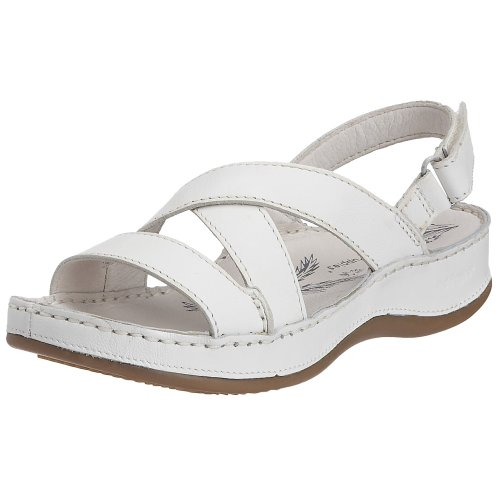 Hush Puppies Women's Rosebud White Leather Sandal