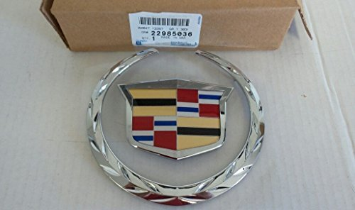 Cadillac 22985036 Escalade Front Chrome Grille Crest / Wreath Emblem by General Motors (Escalade Grill compare prices)