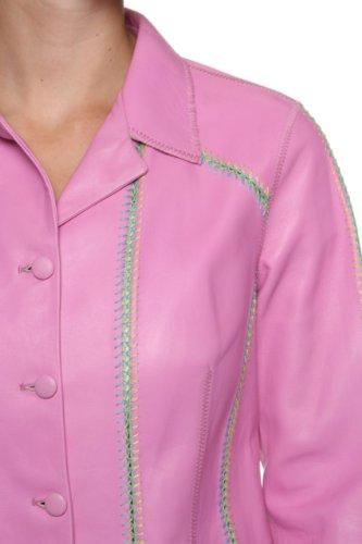 Tomaso Stefanelli Leather Jacket IMILIA, Color: Lilac, Size: 40
