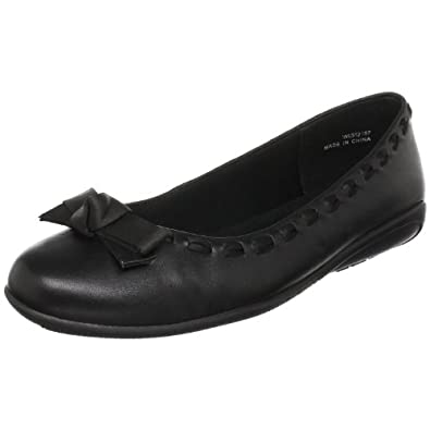 Walking Cradles Women's Fawn Ballerina Flat,Black Leather,11 M US