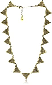 """House of Harlow 1960 Triangle Collar Necklace, 16"""""""