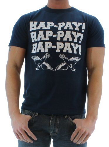 Men's Hap-Pay Hap-Pay Happy Duck Commander Duck Dynasty T-Shirt Tee Blue Size XL