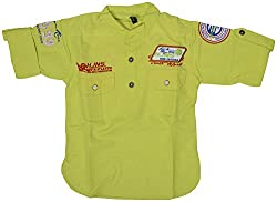GOWRI MARKETING Boys' Regular Fit Shirt (AM00073_12-13 Years, Green)