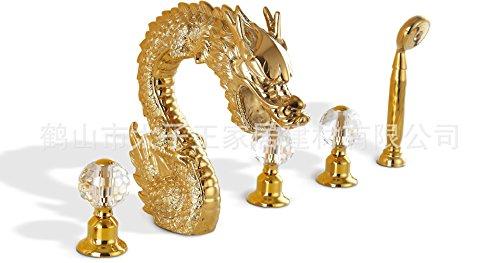 Kebo Shi ( KBS ) completo di vasca doccia rubinetto drago d'oro fabbrica di rame esportazione diretta