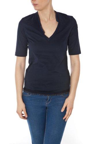 MONCLER T-SHIRT 310938159500 DONNA/WOMAN MANICHE CORTE Blu TG:XS
