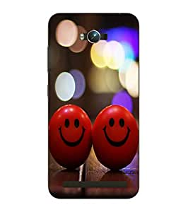 Snazzy Smiley Balls Printed Red Hard Back Cover For Asus Zephone Max