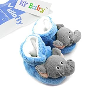 KF Baby Animal Soft Sole Booties, for 3-12 Months - Elephant