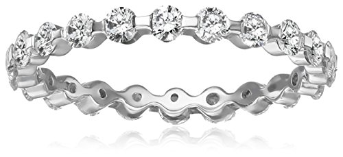 Platinum-Shared-Prong-Diamond-Eternity-Ring-78-cttw-G-H-Color-VS1-VS2-Clarity