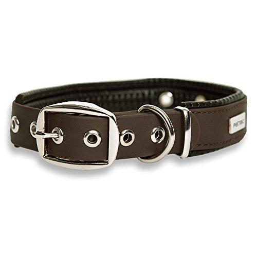 PetTec Hundehalsband aus TrioflexTM mit Polsterung, Braun,...
