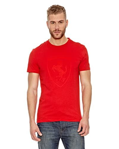 Puma Camiseta Ferrari Shield Rojo