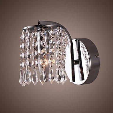 60W Vibrant Modern Light Support mural avec pendentifs en cristal en chrome poli
