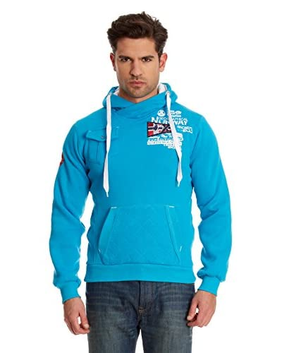 Geographical Norway Felpa Cappuccio Fantome [Turchese]