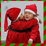 クリスマス衣装★サンタクローズキッズ男の子衣装★サンタクロースコスチューム  ひげ、ベルト 帽子付 (番号:1 / 商品内訳:1点)