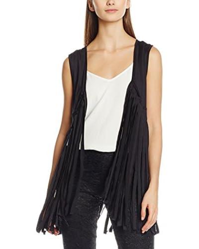 Rare London Weste Jersey Fringe Waistcoat schwarz