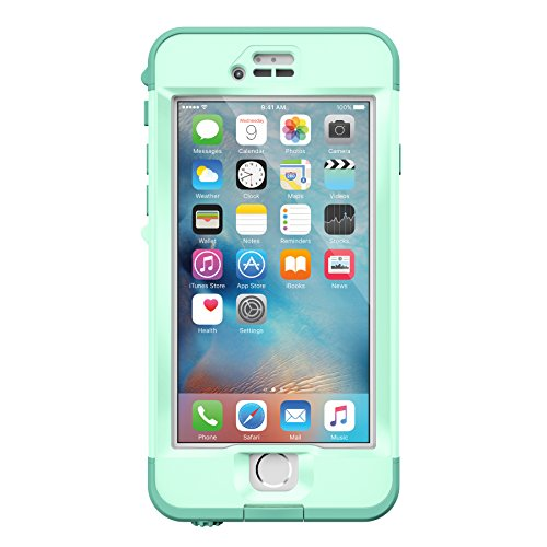Lifeproof Nüüd Series Waterproof Case for iPhone 6s Plus - Retail Packaging - Undertow (Aqua Sail Blue/Clear/Tail Side Teal) (I Phone 6 Life Proof Accessories compare prices)
