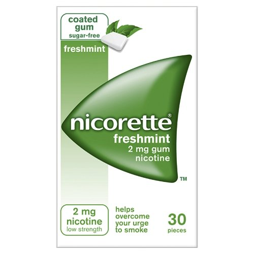 Nicorette Chewing Gum 2mg Freshmint - 30 Pieces