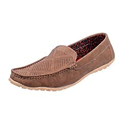 Sparkle Mens Brown Loafers Shoes - 7 UK