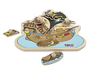 Tidlo My First Peg Puzzle - Pirate Ship