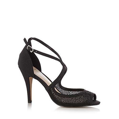 No. 1 <strong>Jenny Packham Womens Designer Black Studded Peep Toe High Sandals