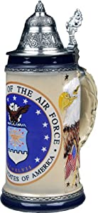 Beer Stein by King - US Air Force Coat of Arms Relief German Beer Stein 0.75l Limited