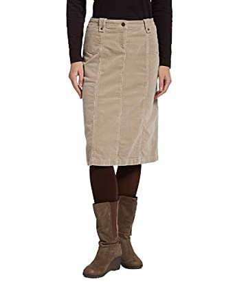 Woolrich Women's Holly Hills Corduroy Skirt, KHAKI (Beige), Size 6
