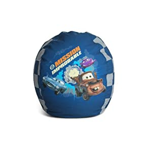 American Furniture Alliance Junior Cars Mission Improbable Print Bean Bag by American Furniture Alliance