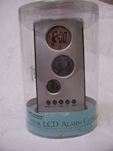 Living Solutions 3 Color LCD Alarm Clock