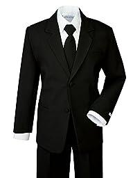 Spring Notion Boys\' Formal Black Dress Suit Set 10