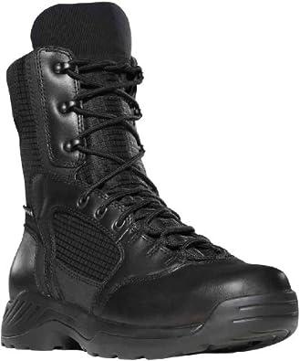 """Danner Men's Kinetic GTX 8"""" Boots,Black Full Grain Leather/Nylon,4 D US"""