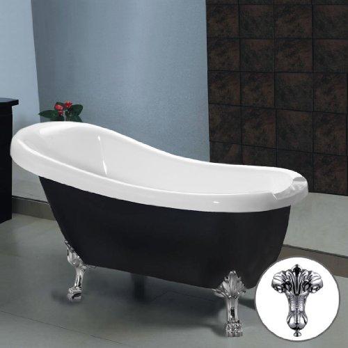 CHIC TRADITIONAL FREESTANDING BLACK ROLL TOP BATH TUB