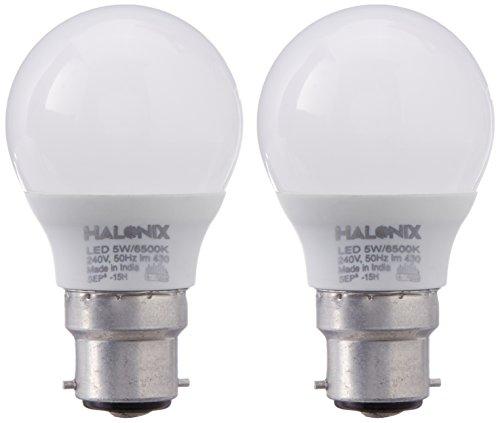 Halonix 5W B22 430L LED Bulb (White, Pack Of 2)