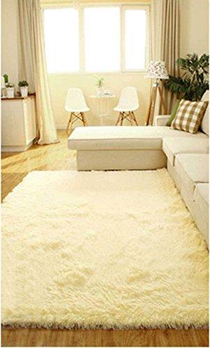 80*120cm Living Room Floor Mat/cover Carpets Floor Rug Area Rug [Light Yellow]