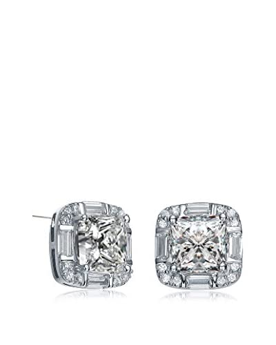 GENEVIVE Jewelry Sterling Silver CZ Square Earrings