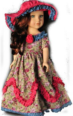 [Doll Clothes for American Girl Long dress,18 Inch Doll Clothes Dressy 2 Pc (Includes Dress,] (Chucky Costume Shoes)