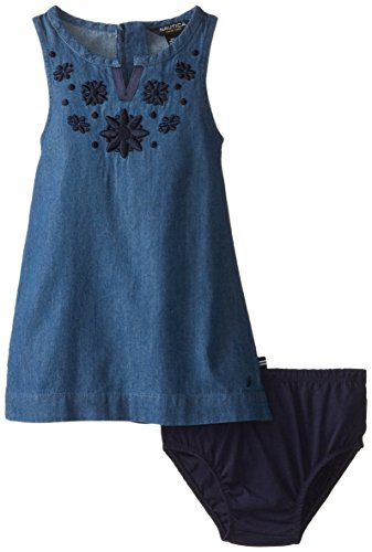 Nautica baby girls 39 shift embellishment dress el chambray for Cuisine you chambray