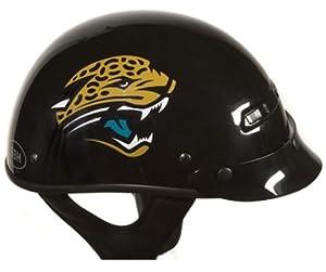 Brogies Bikewear NFL Jacksonville Jaguars Motorcycle Half Helmet (Black, Large) by Brogies Bikewear