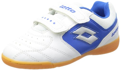 lotto-sport-kick-ii-cl-seu-chaussures-de-football-enfant-mixte-blanc-weiss-white-blue-35-eu