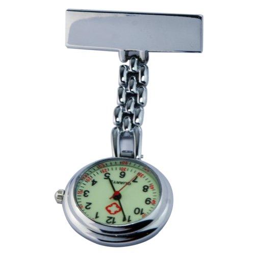 Rhx Nurse Lapel Glow Watch Doctor Pendant Brooch Pocket Watch