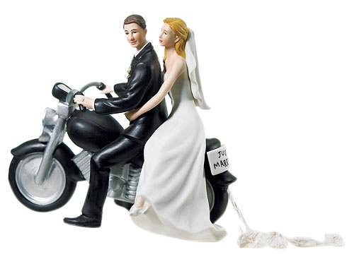 Weddingstar Motorcycle Get-away Wedding Couple Figurine