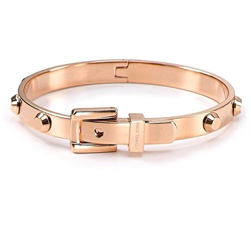 Michael Kors MKJ1821 Rose Gold Astor Buckle Bangle Bracelet