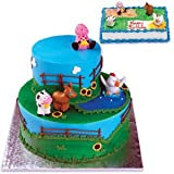 41k4zhXODjL. SL160 Farm Animal Cake Toppers