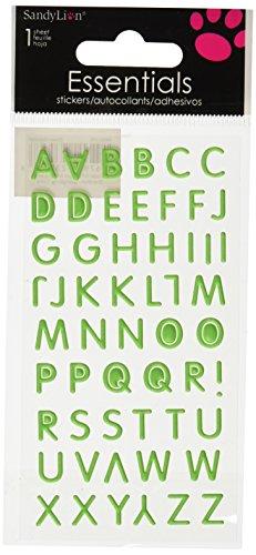 Sandylion Green Alphabet Essentials Sticker, Large - 1