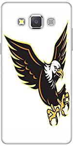 Snoogg American Bald Eagle Flying Solid Snap On - Back Cover All Around Prote...