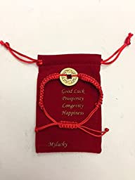 Feng Shui Red String Bracelet with Ch…