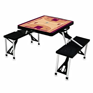 NBA Basketball Court Design Portable Folding Table Seats by Picnic Time
