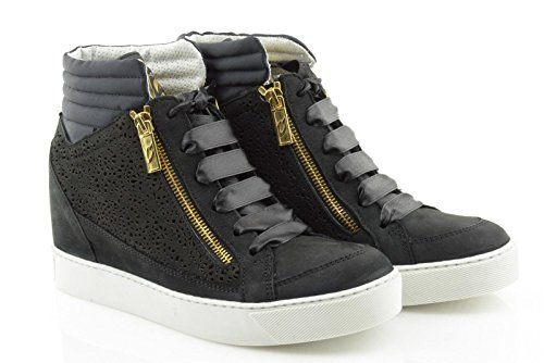 GUARDIANI SPORT donna sneakers alte zeppa SD54484F/NX0000 EMPIRE 40 Nero