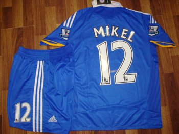 08-09 CHELSEA FC HOME JERSEY MIKEL + FREE SHORT (SIZE M)