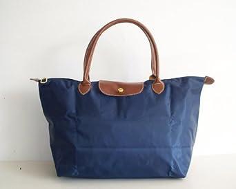 designer inspired stylish tote bag navy blue 3106 nag
